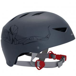 SKATER Helm anthrazit mit Aufdruck BMX- und Skaterhelm Freestyle Fahrradhelm Gr 48 - 61 cm