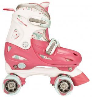Kinder Rollschuhe Skater Größe verstellbar 30-31-32-33 (RWB)