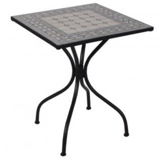 MOSAIKTISCH Tisch Madrid Bistrotisch QUADRAT Mosaik Gartentisch Beistelltisch