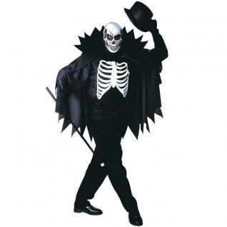 SCARY SKELETON 46/48 S Herren Kostüm Skelett Tod Halloween Karneval