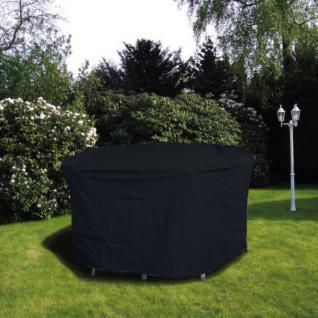 Schutzhülle Anthrazit Hülle Abdeckung für Gartentische Oval 160 x 95 cm