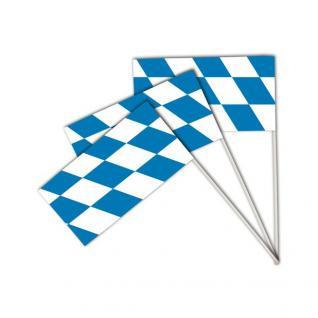 10 Papier Fahnen Bayerische Raute Oktoberfest Bayern Party