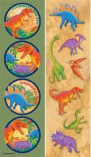 44 Dino Dinosaurier Sticker auf 8 Bögen - Kindergeburtstag Mitgebsel