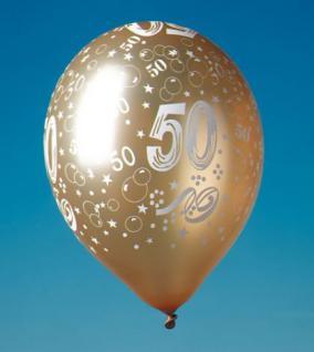 LUFTBALLONS ZAHL 50 Geburtstag Party Deko