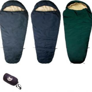 Mumien Schlafsack Camping Schlafsack ultralight bis 0° Grad Länge 220 cm