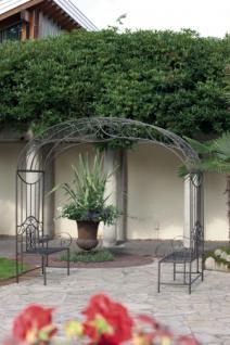 Rosenbogen mit 2 Bänken aus Eisen Garten Deko