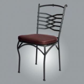 Deko Stuhl / Gartenstuhl mit Kissen aus Eisen