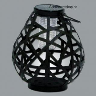 LED Deko - Windlicht aus Eisen Birnenform