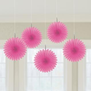 5er Set Minifächer Pink