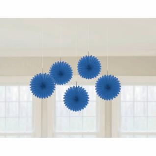 5er Set Minifächer Blau
