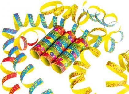 3 Luftschlangen Ballon Party Kindergeburtstag