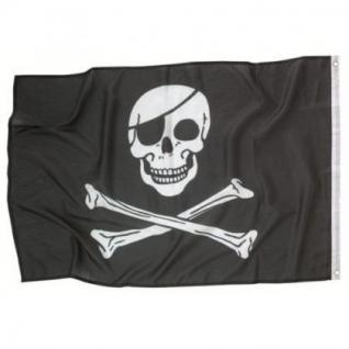 Piratenflagge 92 x 60 cm, Piraten Party, Kindergeburtstag, jolly roger,