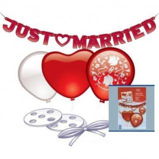 JUST MARRIED SET HOCHZEIT DEKO 26 TEILE LUFTBALLON DEKO