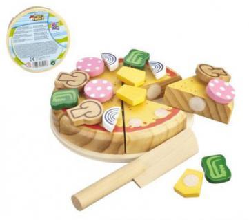 Pizza aus Holz zum schneiden Kinder Lebensmittel