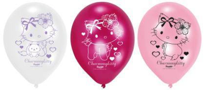 CHARMMY HELLO KITTY HEARTS Kindergeburtstag 6 Luftballons Motto Party Geburtstag