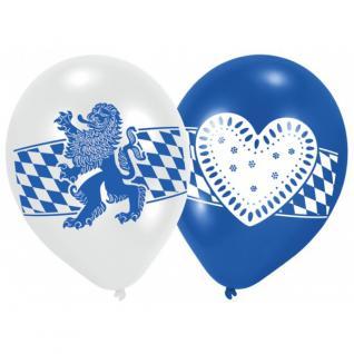 6 Luftballons Oktoberfest Bayern Party bayrische Raute