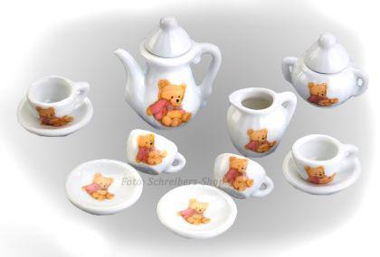 Puppenhaus Kinderküche Porzellan Mini Kaffee Tee Service