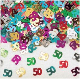 Design Konfetti WUNSCHZAHL 50 Jahre Geburtstags Party Tischstreu Dekoration