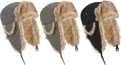 Warme Wintermütze Fell Schapka Pelzmütze Junior für Kinder in 3 Farben