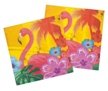 12er Pack Papier Servietten mit Hawaiimotiv Hawaii Party Strandparty
