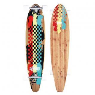 "BAMBO LONGBOARD 42"" 107cm ABEC 9 Skateboard das perfekte Board zum Cruisen"