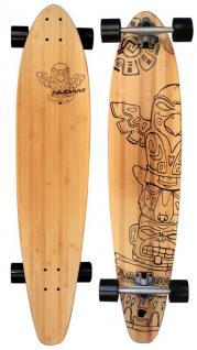 "Hawai LONGBOARD 42"" 107cm ABEC 9 Skateboard das perfekte Board zum Cruisen"