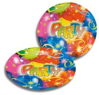 8 Teller, BallonParty, Kindergeburtstag, Deko, Luftballon, Luftschlangen