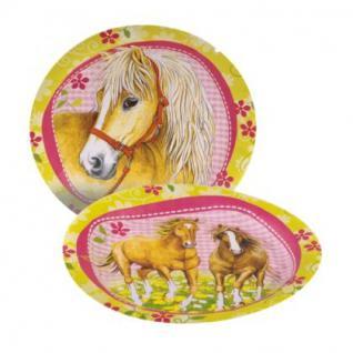 8 Teller, Pferde Party, Geburtstag, Kindergeburtstag, Deko, Charming Horses