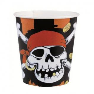 8 Becher Piraten Party, Kindergeburtstag, jolly roger,