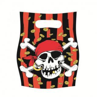 6 Partytüten Piraten Party, Kindergeburtstag, jolly roger, Piratenparty,