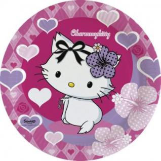 CHARMMY KITTY Hearts Kindergeburtstag 8 Teller 23 cm Motto Party Geburtstag