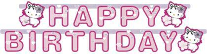 CHARMMY HELLO KITTY HEARTS Kindergeburtstag Partykette Motto Party Geburtstag