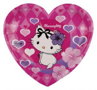 CHARMMY HELLO KITTY Hearts Kindergeburtstag 6 Herzteller Motto Party Geburtstag