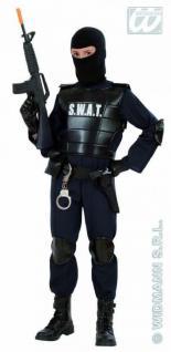 SWAT Undercover Agent Polizist Kinder Kostüm Gr. 128 Polizei