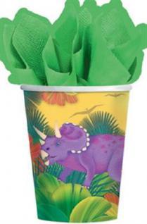 8 Becher Dinosaurier Dinos, Kindergeburtstag Party Geburtstag Motto Party