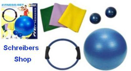 Gymnastik-SET Ball, Ring, Flexabänder, Gewichte