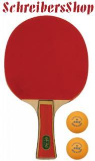 Tischtennisschläger Tischtennis + 2 Bälle 1 Stern