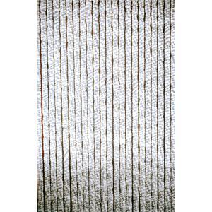Türvorhang Chenille Caravan grau/weiß 60x185cm Insektenschutz Wohnwagen Vorhang