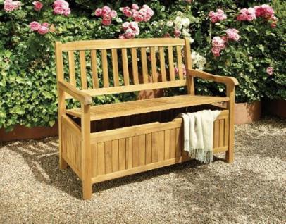 truhenbank melton akazienholz 120cm gartenbank sitztruhe auflagentruhe 2 sitzer kaufen bei. Black Bedroom Furniture Sets. Home Design Ideas