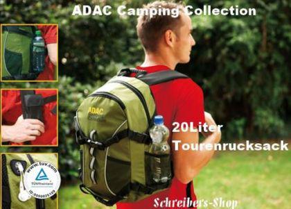 ADAC CAMPING RUCKSACK TOUREN RUCKSACK 20L TREKKING