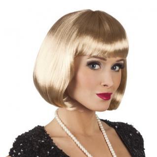 Damen Pagenkopf Bob Perücke, Cabaret -blond