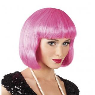 Damen Pagenkopf Bob Perücke, Cabaret - icy pink