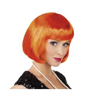 Damen Pagenkopf Bob Perücke, Cabaret - orange