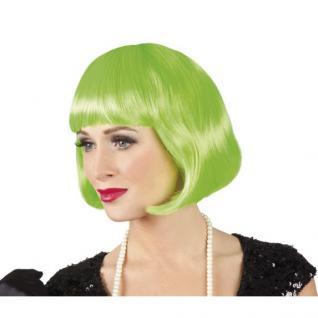 Damen Pagenkopf Bob Perücke, Cabaret - grün