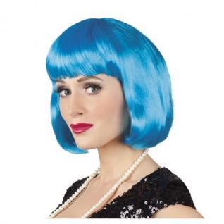 Damen Pagenkopf Bob Perücke, Cabaret - Icy Blue