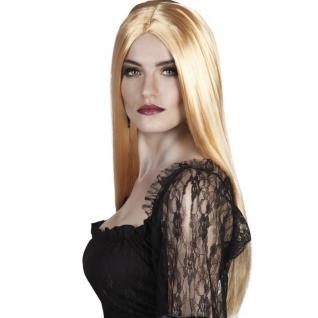 Damen Perücke - Hexe Vampir Langhaar blond Halloween