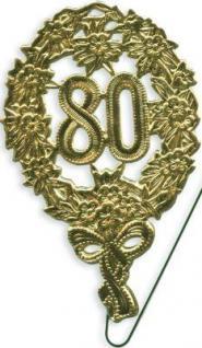 JUBILÄUMSZAHL 80 GOLD MIT DRAHT Jubiläum Geburtstag