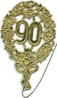 Jubiläumszahl 90 gold Durchm. 13cm mit Draht