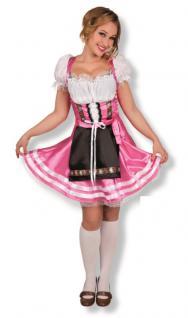 Damen Kostüm Dirndl Gr. L 42 - 44 Helena pink Oktoberfest Bayern Tracht