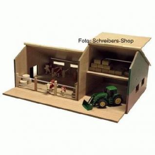 bauernhof stall mit schuppen holz siku traktoren. Black Bedroom Furniture Sets. Home Design Ideas